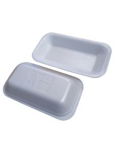 White Polystyrene C1 Food Tray 178x102x25mm