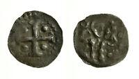 pcc2128_2) AQUILEIA - Frisacensi (Sec. XII) - Denaro - Testa / Croce 4 globetti