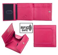 Prime Hide Woman's Pippa Trifold Berry Leather Purse Wallet RFID Blocking New