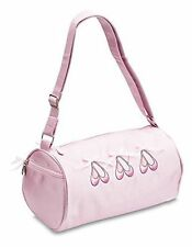 Girls Pink satin ballet dance shoulder shoe bag by Katz dancewear KB21