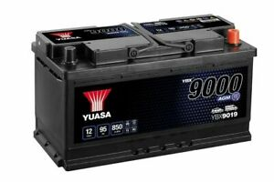 Yuasa YBX9019 12V AGM Stop Start Plus 019 Type Car Battery 95Ah 850A