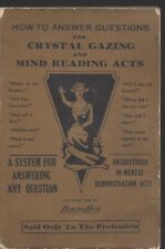 How to answer questions for crystal gazing & mind reading acts burling hull 1927