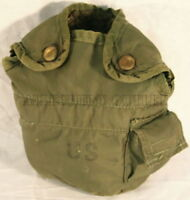 2 Military US Army 1 QT QUART CANTEEN COVER 1QT POUCH CARRIER OD w Clips GC