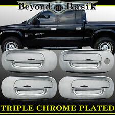 DODGE DAKOTA 97-04 Chrome Door Handle Covers W/O PSK Overlays trims 4 door