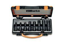 BETA TOOLS 720ME / C8 1/2 Drive impatto hex socket driver set 8pz 5mm a 19mm in ca