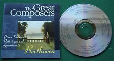 The Great Composers Beethoven Piano Sonatas Pathetique & Appassionata GC035 CD