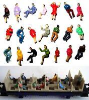 F32 - 50 Stück H0 Figuren sitzend nur SITZENDE Konvolut ideal f Waggons Reisende
