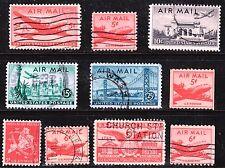 Scott C32-C41 Used Airmail, 1946-1949 Stamps