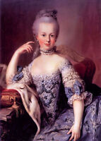 Huge oil painting beautiful young noblelady Marie Antoinette seated hand painted