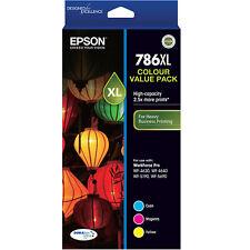 Genuine Original Epson 786XL WF-4630 WF-4640 WF-5190 WF-5690 T787592 3 Color Ink