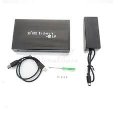 "USB2.0 5V/12V External IDE 3.5"" HDD Hard Disk Drive Enclosure Box w USB Cable FR"