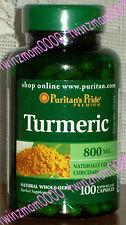 Turmeric 800mg 100 CAPSULES Antioxidant Naturally Contains Curcumin