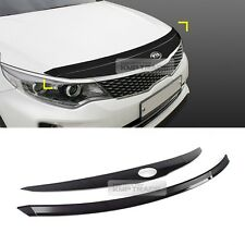 46_Smoke Bonnet Hood Guard Bug Shield Molding  for KIA 2016-17 Optima K5 MX SX