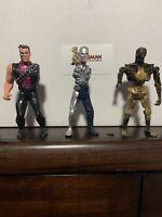 Vintage 1991 Kenner Terminator 2 Lot x3 Action Figure Lot Arnold T-1000