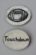 o Football Touchdown spirit HANDCRAFTED PEWTER POCKET TOKEN CHARM basic coin