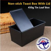 Non-stick Bread Loaf Pastry Cake Box with Sliding Lid Baking Pan Bakeware C@