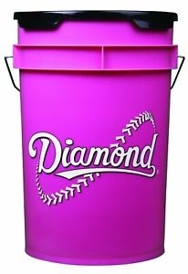 Diamond 6 Gallon Pink Softball Bucket With Padded Lid Black BKT PK