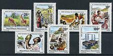 Rwanda 1981 MNH Rural Water Supplies 7v Set Wild Animals Cultures Stamps