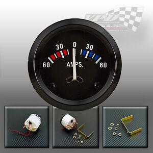 Battery Gauge Tester Amp Meter Universal Panel Dash classic Car Fittings 12V