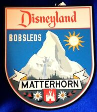 Disney Tin sign Bobsleds Matterhorn LE 1500