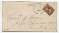 1885 Plainfield NJ #210 cover sunburst fancy cancel [y4229]
