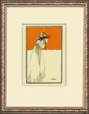 """Original 1899 3-Color Stone Lithograph """"Isolde"""" by Aubrey Beardsley"""