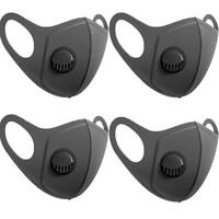 4× Premium Anti Air Pollution Face Mask Respirator Washable reusable Mouth Cover