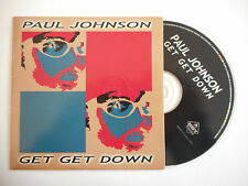 PAUL JOHNSON : GET GET DOWN ( 2 VERSIONS ) [ CD SINGLE ] ~ PORT GRATUIT