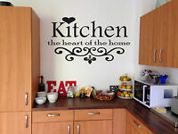 Kitchen The Heart Of The Home - Wall Art Vinyl Sticker Decal