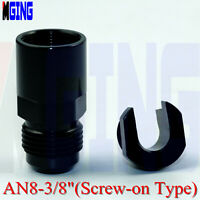 Hardline Fitting End Adapter Fitting 1//2 Tube To Male AN8 Black 108-08BLK