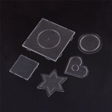 5pcs/Set Mixed Shapes Clear Plastic Pegboards for 2.5mm Mini Fuse Beads 75~140mm