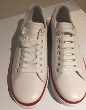 Prada Men's White 'New Nevada' Leather Trainers  UK 6, IT 40