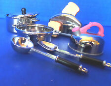 Tyco Kitchen Littles Toaster, Tea Kettle and Pasta pot with ladle and spoon