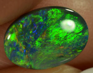Black Opal Australian natural solid 1.15 ct multi-colour double sided gemstone