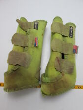 SMB Elite Horse Boots Right Side Only Lime Green Velcro Splint Sports Medicine T