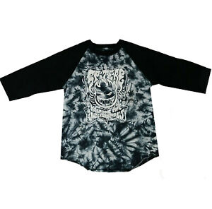 SPITFIRE - Lit - Tie Dye 3/4 Sleeve Raglan T-Shirt - Skateboard top - Large