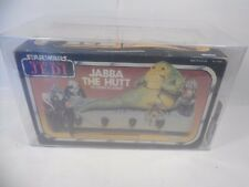 VINTAGE STAR WARS ROTJ JABBA THE HUTT PLAYSET SEALED KENNER AFA GRADED 70 EX+