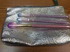 3 SLMISSGLAM Brushes &  Silver Bag (set of 3 brushes)