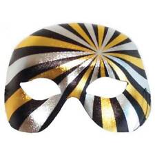 MALE BLACK, SILVER AND GOLD PSYCHO MASQUERADE MASK  PARTY/FANCY DRESS