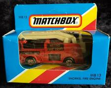MATCHBOX MB 13 SNORKEL FIRE ENGINE RED METRO FIRE DEPT - NEW in UNOPENED BOX