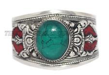 Coral Bracelet Cuff Bracelet Turquoise Silver Bracelet Tribal Gypsy Bracelet