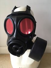 S10 Gas Mask Size 3 Custom Red Mirror Lenses Upgrade