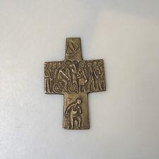 Sammlungsauflösung religiöse Volkskunst hochwertiges Kreuz Wandkreuz Bronze (6)