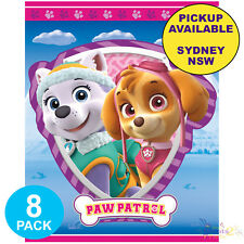 PAW PATROL PINK GIRLS PARTY SUPPLIES 8 LOOT BAGS LOLLY TREAT BIRTHDAY FAVOURS