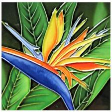 "Bird of Paradise Art Tile 4""x4"" Flower Decorative Ceramic New SD-209 Backsplash"