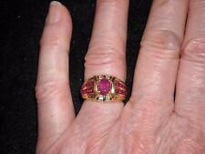 320 18k Y G Le Vian ruby diamond ring 1.90 ct rubies center .6 ct diamond F VS1