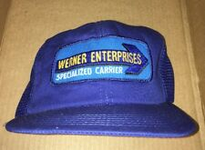 vintage WERNER ENTERPRISES SPECIALIZED CARRIER trucks trucking patch hat trucker