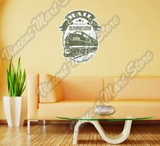"""Train Railroad Rail Transportation Wall Sticker Room Interior Decor 18""""X25"""""""