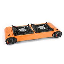 Evelyne Portable Butane Gas Stove Double Dual Burner Camping Tailgate Tailgating