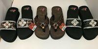 Justin slip on Mackenzie Rhinestones ladies sandals flip flops shoes Retail $70.